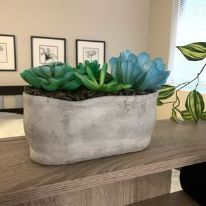 Artificial succulent planter home /office decor